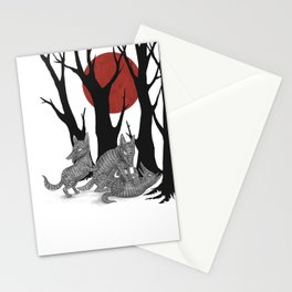 Four Arms - Wolf & Pups Stationery Cards