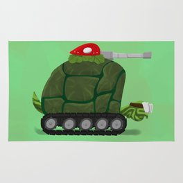 Battle Turtle Tank - slow and steady wins the battle Rug