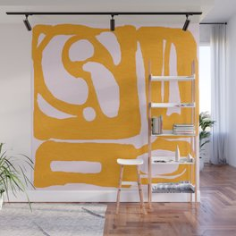 Abstract in Yellow and Cream Wall Mural