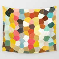 geometry Wall Tapestries featuring Geometry by Bird Junker