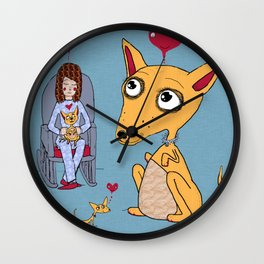 hygge = a warm chihuahua / chihuahuas dog in your lap Wall Clock