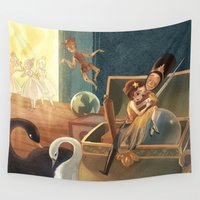 soldier Wall Tapestries featuring The Steadfast Tin Soldier by Sumi Illustrator