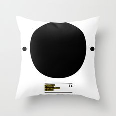 THE ABSENCE OF EVIDENCE Throw Pillow