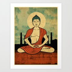 Meditating Buddha Art Print