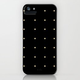 Black & Cream Polka Dots iPhone Case