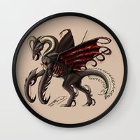 demon Wall Clocks featuring Demon by Alexiel