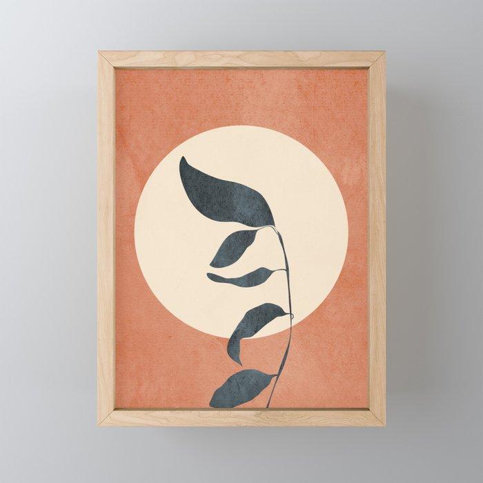 Summer Leaves Framed Mini Art Print