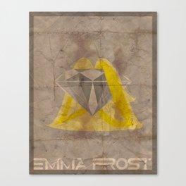 Minimalist Emma Frost Canvas Print