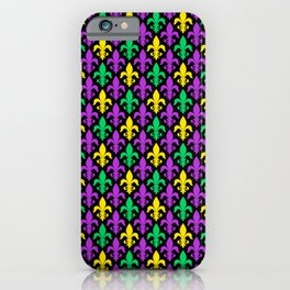 Mardi Gras Pattern | Funny Carnival Graphic iPhone Case