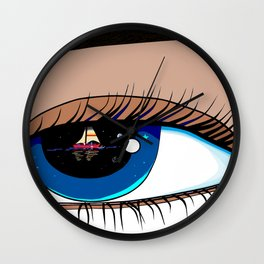 The Eye looking out at the Water at a Boat Wall Clock