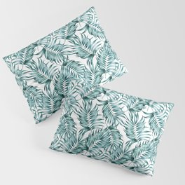 Island Life, Tropical Minimal Palm Vintage Illustration, Luxe Bohemian Botanical Nature Beachy Pillow Sham