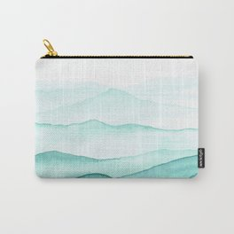 Mint Mountains Carry-All Pouch