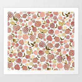 Fruity Ditsy Art Print