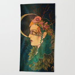 Morrigan: The Phantom Queen Beach Towel