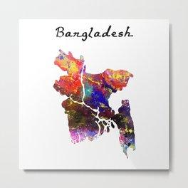 Bangladesh Quote Art Design Inspirational Motivat Metal Print