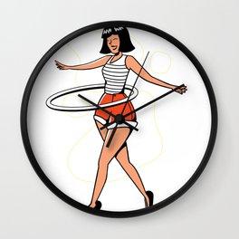 Hula Hoop Dancer Wall Clock