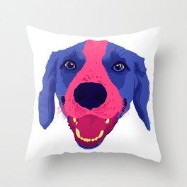 beagle - wht Throw Pillow