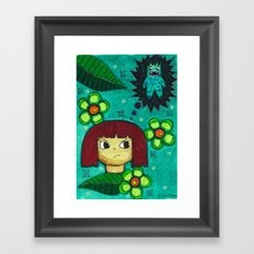 Fighting with your demons Framed Art Print