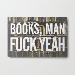 Books, Man Metal Print