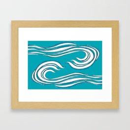 waves mother ocean Framed Art Print