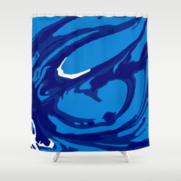 blue paint swirl Shower Curtain