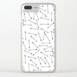 Arrow vintage pattern Clear iPhone Case
