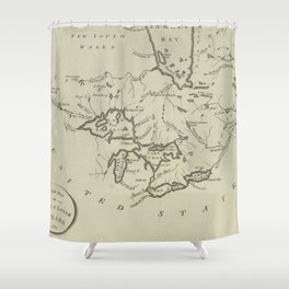 Vintage Map of The Great Lakes (1794) Shower Curtain