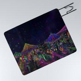 Magical Night Market Picnic Blanket