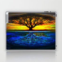 Duality Tree of Life Reflection Moon & Sun Day & Night Painting by CAP Laptop & iPad Skin