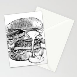Mac'n ink Burger Stationery Cards