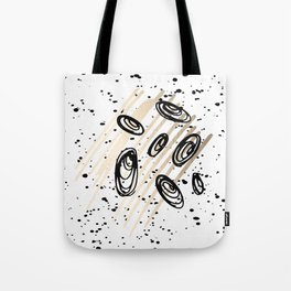 The Visitors - Black White and Gold Tote Bag