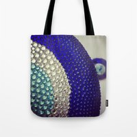 evil eye Tote Bags featuring Evil Eye by Layal Chemaitelly