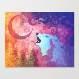 Howl @ The Moon Canvas Print