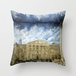 BANK OF ENGLAND & THE PEOPLE  Throw Pillow