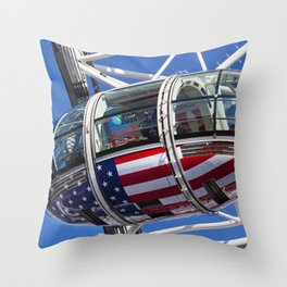 The London Eye Rugby World Cup 2015 Throw Pillow