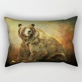 Grizzly Bear in Morning Sun Rectangular Pillow