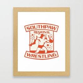 southpaw wrestling Framed Art Print