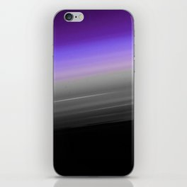 Purple Gray Black Smooth Ombre iPhone Skin