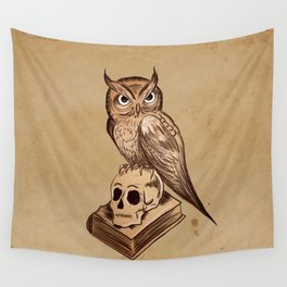 Wise Old Owl Wall Tapestry