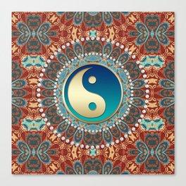 Bohemian Batik Yin Yang Canvas Print