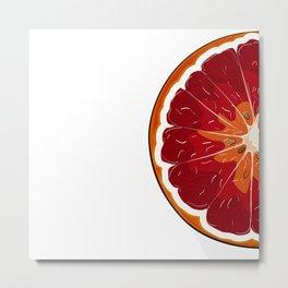 Orange print Metal Print