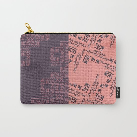 Primitive Pattern Carry-All Pouch