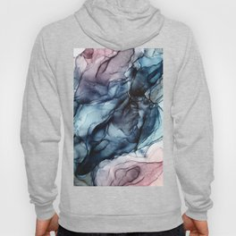Blush and Darkness Abstract Paintings Hoodie