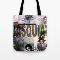 basquiat Tote Bags featuring Basquiat by Andrew Spangler