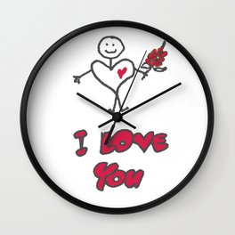 Heartman - I Love You Wall Clock