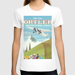 Ortler South Tyrol, Italy travel poster T-shirt