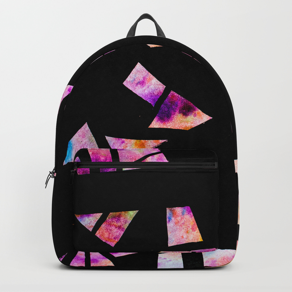 Vibrant Abstract Geometric Shapes - Watercolour An… Backpack by Mstillart BKP9032479