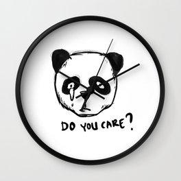 save threatened animals Wall Clock