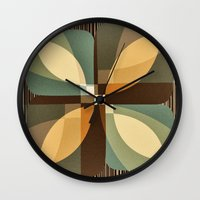 clover Wall Clocks featuring clover by Julia Tomova