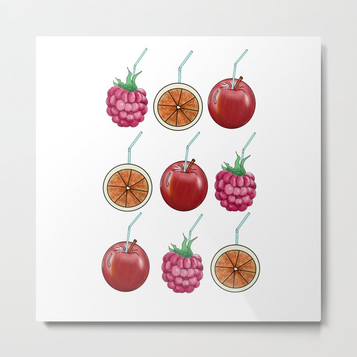 fresh fruits and cocktail rolls Metal Print